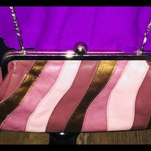 Beautiful Vintage Leather Multicolor Bag